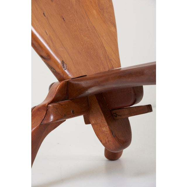 Pair of Craft Wooden Studio Lounge Chairs by Don Shoemaker, Mexico, 1960s For Sale - Image 6 of 13