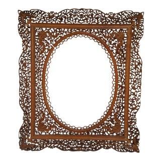 Antique Anglo Indian Carved Wood Frame