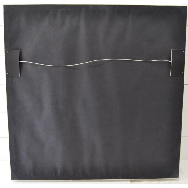 """Real Framed Cotton Signal Flag """"M"""" For Sale - Image 4 of 5"""