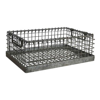 Heavy Industrial Galvanized Metal Basket For Sale