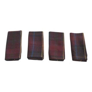 Plaid Ralph Lauren Style Napkins - Set of 4 For Sale