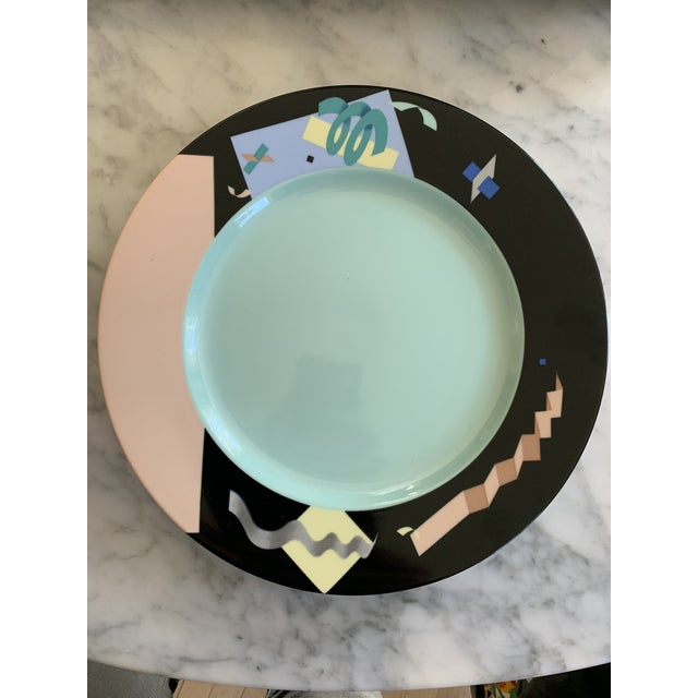 Abstract 1980s Steven Holl Post Modern Planar Service Plates - Set of 6 For Sale - Image 3 of 3
