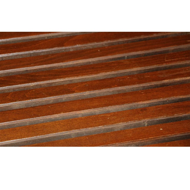 Extra Long Mid Century Slatted Wood Bench Coffee Table George Nelson Style For Sale - Image 9 of 12