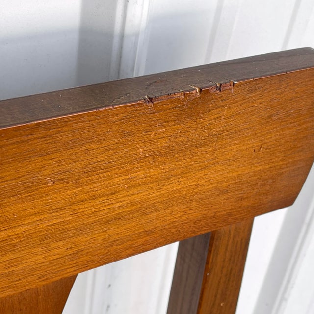 Mid-Century Walnut Twin Headboard and Footboard For Sale - Image 10 of 13