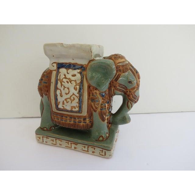 1960s Mid Century Ceramic Elephant Ashtray For Sale - Image 5 of 5
