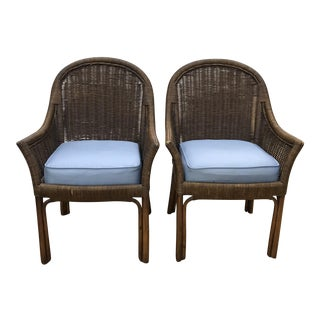 Ficks Reed Armchairs - A Pair For Sale