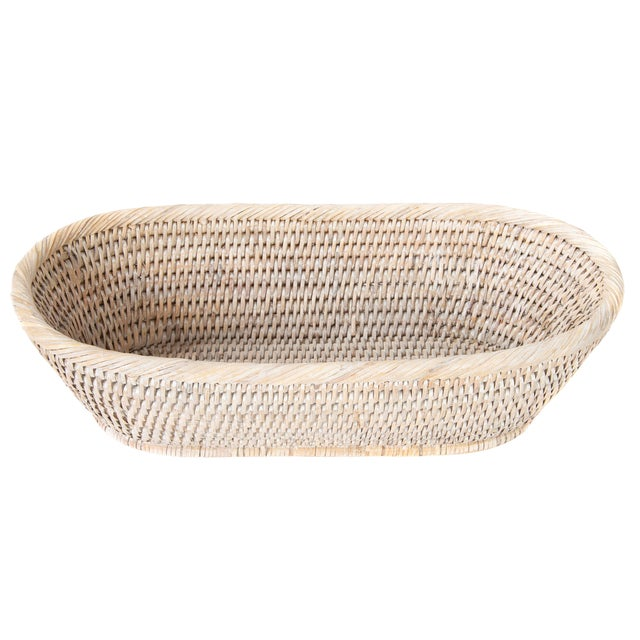 Artifacts Rattan Oval Basket For Sale
