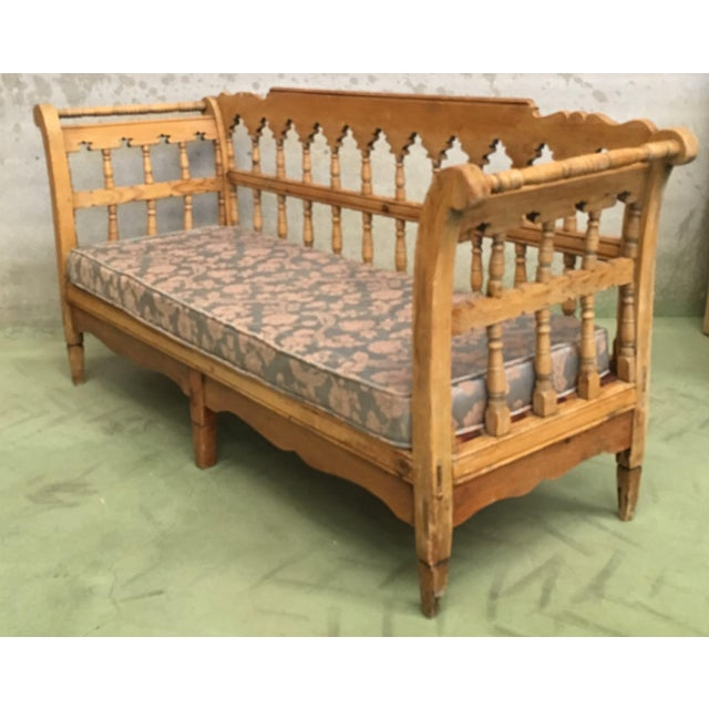 Wood 19th Century Large Pine Country Bench or Daybed For Sale - Image 7 of 11