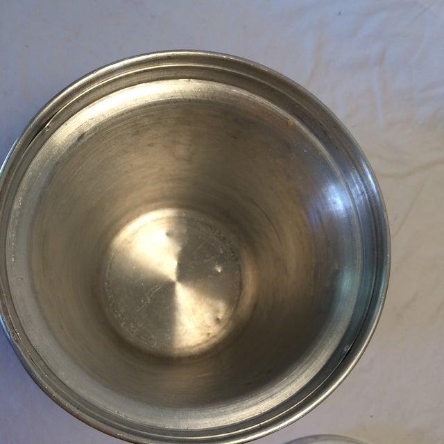 Aluminum Vintage Italian Insulated Aluminum Ice Bucket by Nasco For Sale - Image 7 of 11