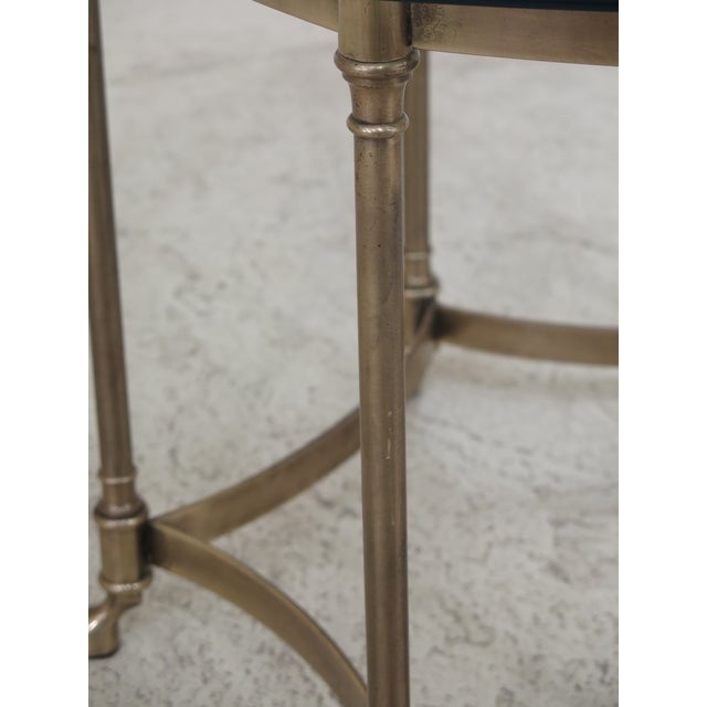 Labarge Labarge Brass & Glass Hoof Foot Occasional Table For Sale - Image 4 of 7