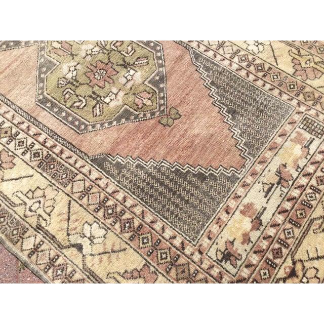 Vintage Hand Knotted Turkish Rug For Sale - Image 4 of 9