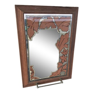 Vintage Mid Century Wall Mirror For Sale