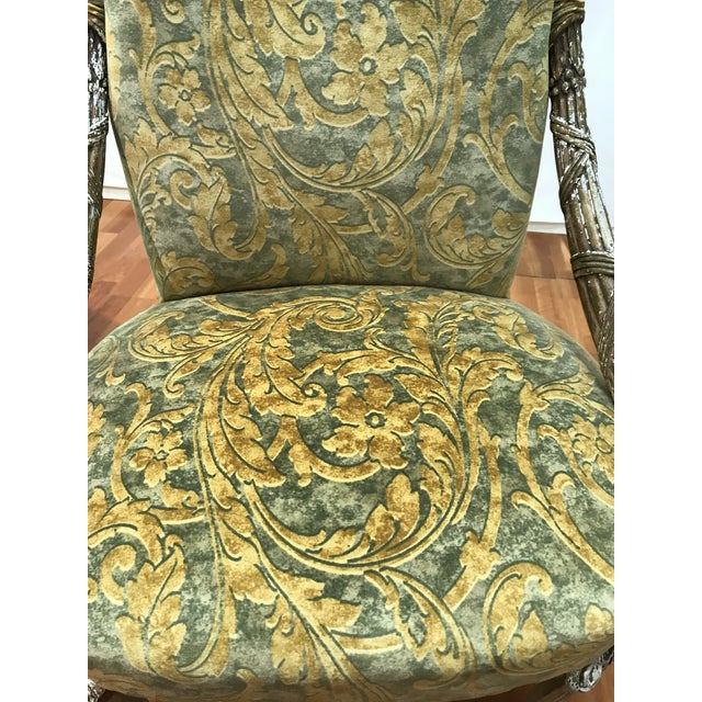 Empire Grosfeld House Lee Jofa Printed Velvet Chair For Sale - Image 9 of 12