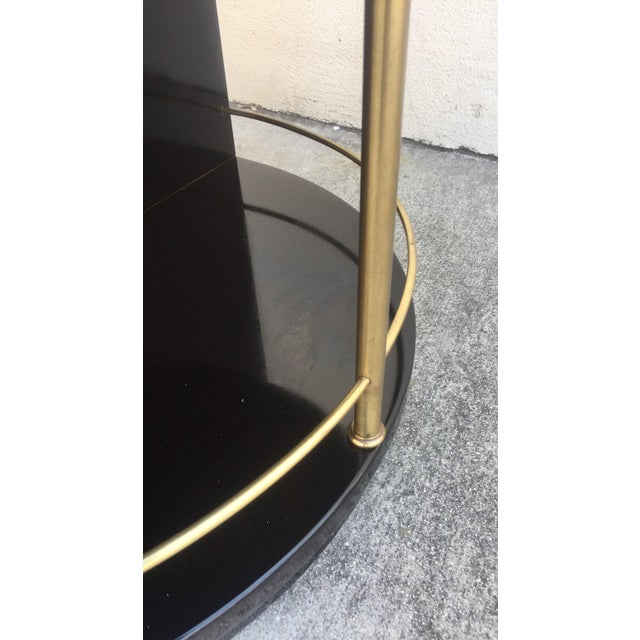 Henredon Black Lacquered Side Tables - A Pair For Sale - Image 5 of 7