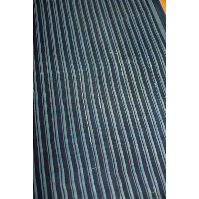 African Indigo Blue Striped Throw - Image 3 of 4