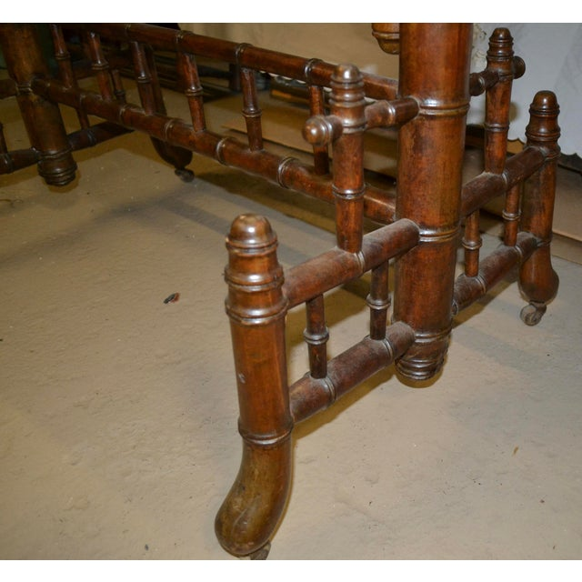 Late 19th Century 19th Century French Faux Bamboo Cheval Mirror For Sale - Image 5 of 9