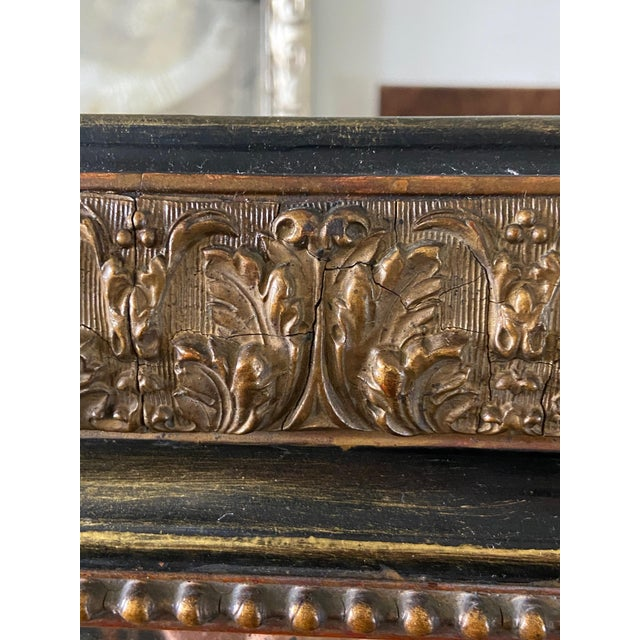 Louis Phillip Gold Leaf Antique Mirror For Sale - Image 4 of 7