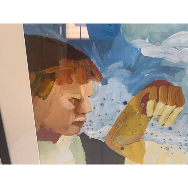 Susan Durfee Thulin 'Growing Boys' Large Framed Painting For Sale In Denver - Image 6 of 13