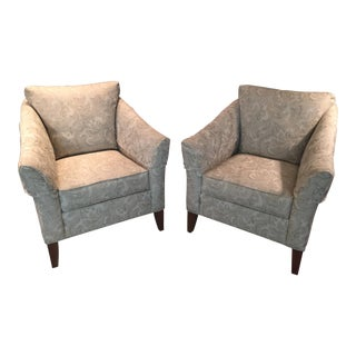 Ethan Allen Gibson Upholstered Club Chairs - a Pair For Sale