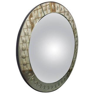 Italian Dome Front Bubbled Mirror For Sale