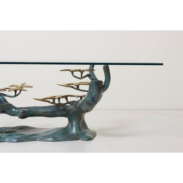 Brass Bonsai Tree Coffee or Side Table in the Manner of Willy Daro For Sale - Image 6 of 13
