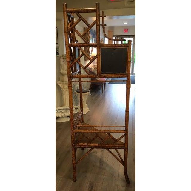 1960s Bamboo Corner Shelf For Sale - Image 5 of 8