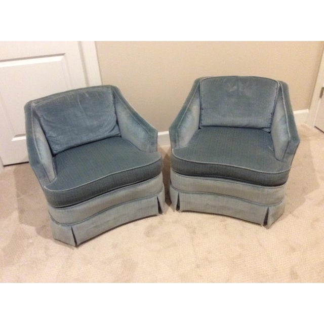 1970s Vintage Drexel Heritage Armchairs - a Pair For Sale - Image 13 of 13