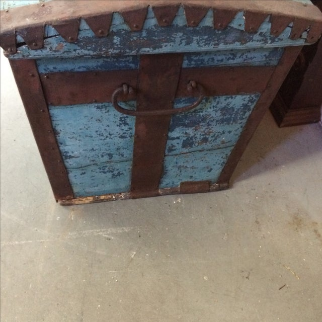 Antique Painted Chest 1822 For Sale - Image 7 of 11