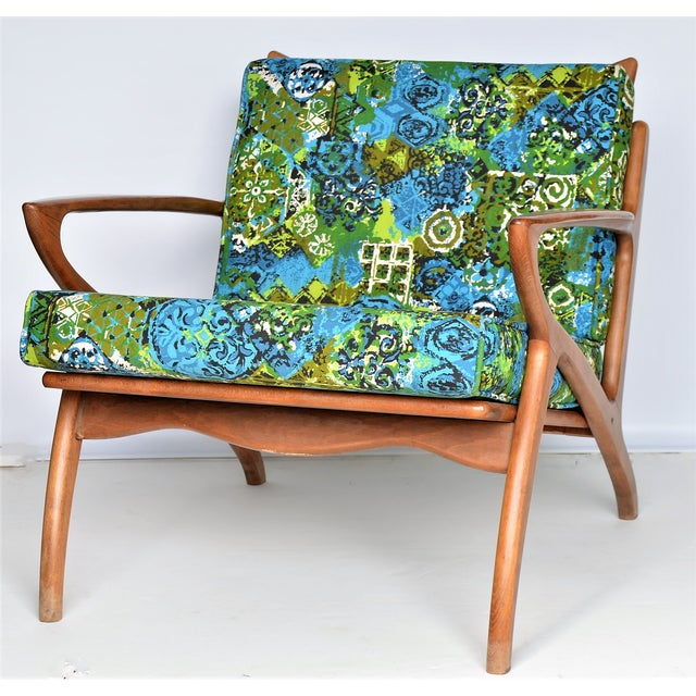 Selig Mid Century Danish Modern Solid Teak Selig Style Lounge Chair --MCM Tropical Coastal Boho Chic Haute Bohemian For Sale - Image 4 of 12