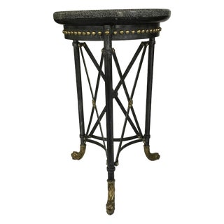 Neoclassical Marble & Iron Side Table