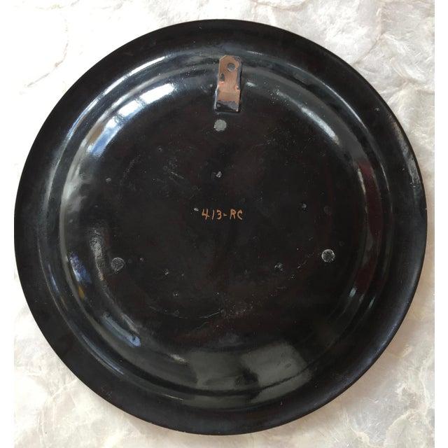 Boho Chic 1950s Vintage Sascha Brastoff Enamel on Copper Plate For Sale - Image 3 of 4