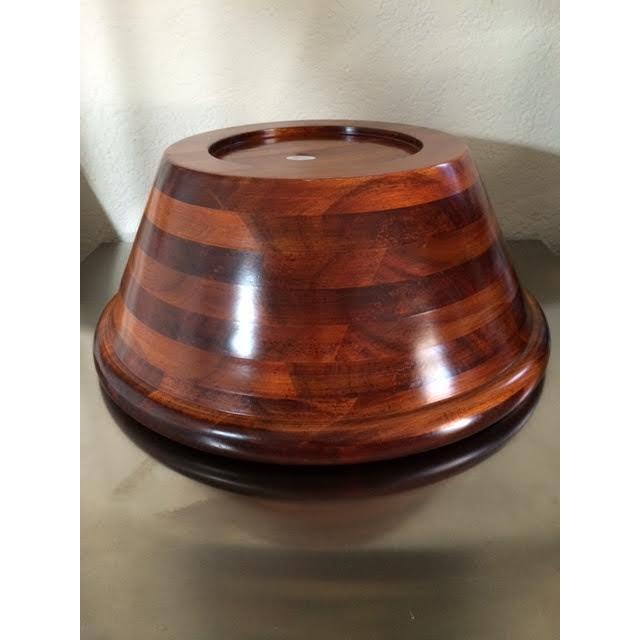 Pomerantz Wood Serving Bowl For Sale - Image 4 of 6