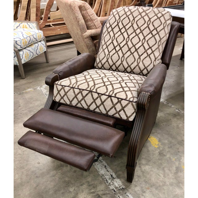 Contemporary Reclining Leather Chair For Sale - Image 9 of 10