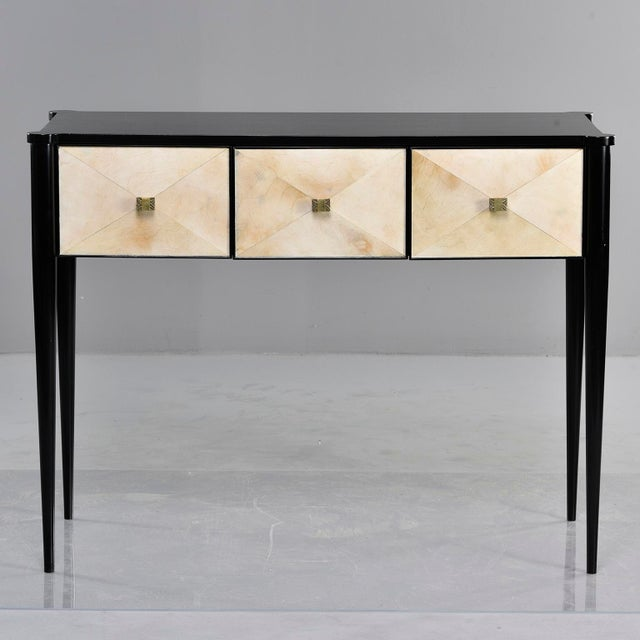 Bespoke Ebonised Console With Vellum Drawers For Sale - Image 13 of 13