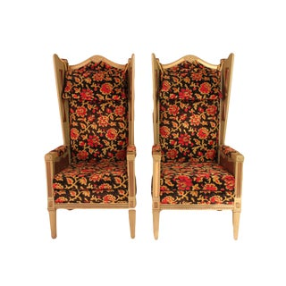 Massive Carved Throne Chair- a Pair