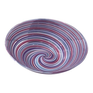 Contemporary Michael Egan Hand Blown Glass Bowl For Sale