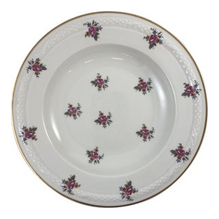French Limoges Flower Patterned China Bowl