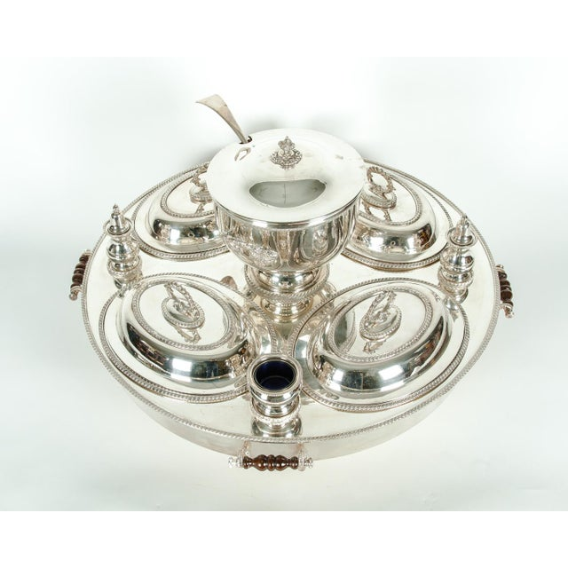 English Silver Plated Revolving Serving Dish Set of 9 For Sale - Image 9 of 12