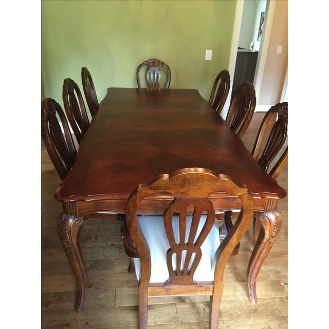 Cherry Wood Dining Room Table - Image 6 of 11