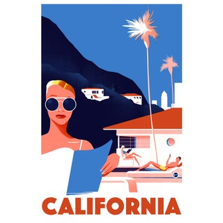 2019 Contemporary Travel Poster - Pascal Blanchet - California For Sale