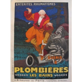 1931 Vintage French Travel Poster, Plombieres Les Bains by Jean d'Ylen (Unlined) For Sale