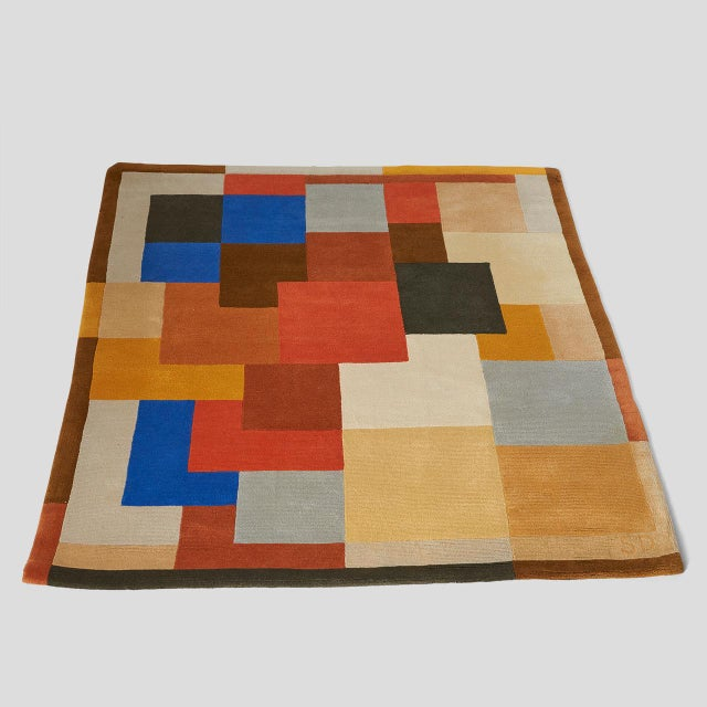 """Artcurial """"Labrinthe"""" Wool Rug by Sonia Delaunay For Sale - Image 4 of 10"""