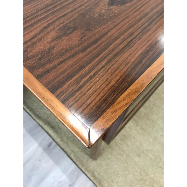 1970s Mid-Century Modern Danish Rosewood Desk Writing Table For Sale - Image 5 of 10
