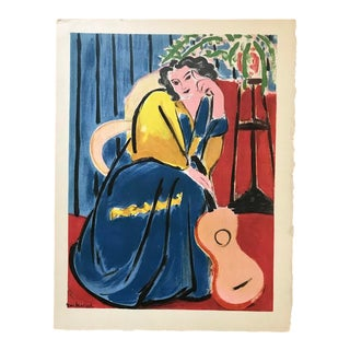 """Woman With Guitar"" Matisse Print For Sale"
