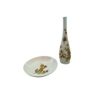 Bjørn Wiinblad Vase & Bowl - A Pair