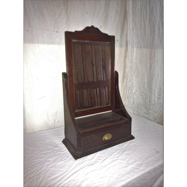 Antique Rosewood Shaving Mirror British Colonial Plantation Piece For Sale In Sacramento - Image 6 of 6