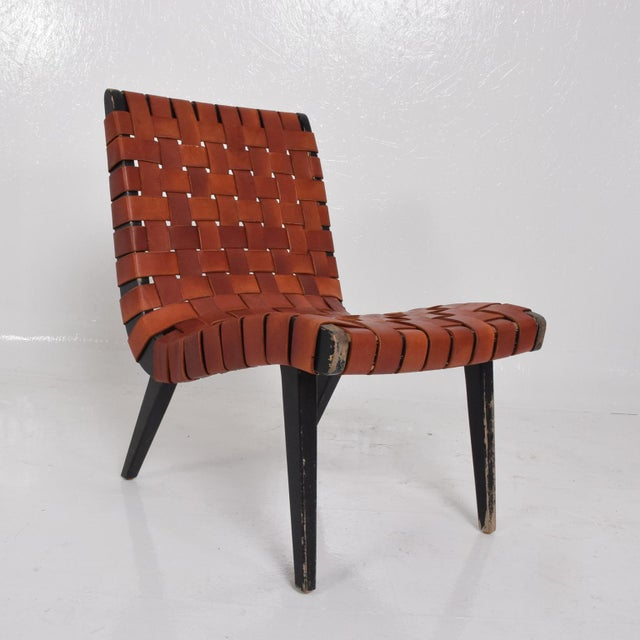 Knoll Pair of Jens Risom Lounge Chairs for Knoll For Sale - Image 4 of 12