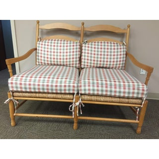 Sam Moore Gingham Settee Preview