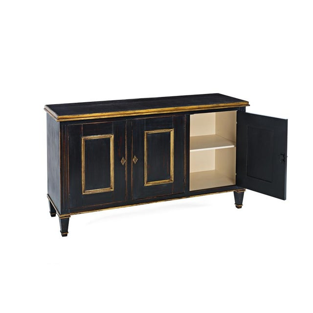 Sarreid Ltd. Louis XVI Black & Gold Buffet - Image 2 of 2