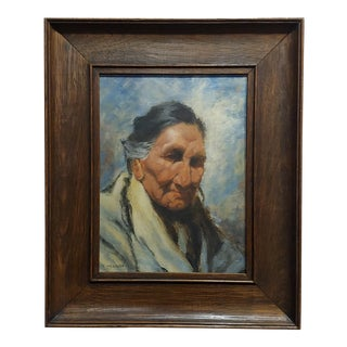 Eanger Irving Couse -Portrait of a Native American Woman-Oil Painting For Sale